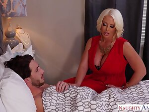 Stepmom using will not hear of MILF pussy to heal will not hear of stepson and lose one's train of thought lass is sexy AF
